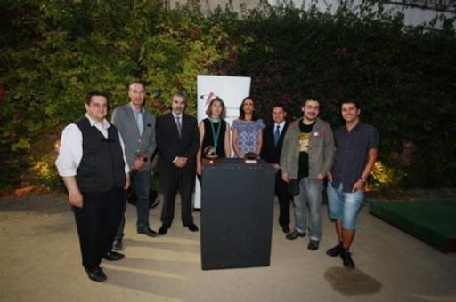 Tots els finalistes a les Petxines, amb la presidenta de la Demarcació, Sara Sans. FOTO: PERE TODA