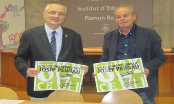 A la dreta, el vicepresident del CPC Lleida; a la l'esquerra, el regidor. Foto: Paeria