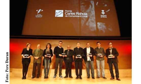 Els guanyadors de la cinquena edició dels Premis Carles Rahola de Comunicació Local.