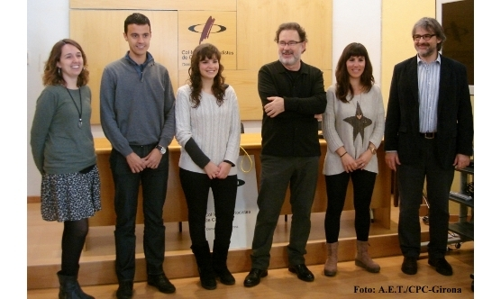 La nova Junta de Girona:Sílvia Planas, Xevi Masachs, Laura Fanals, Joan Ventura, Tania Tapia i Jaume Serra.
