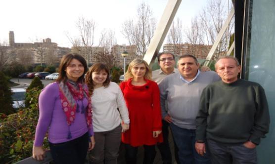 Rafael Gimena, el segon per la dreta, amb la resta de la nova Junta del CPC Lleida.