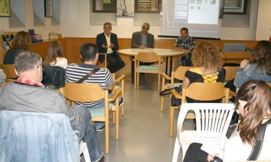 La xerrada es va fer a la Biblioteca Ramon Vinyes i Cluet