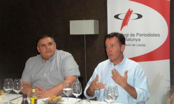 Esteve Soler, a la dreta, amb el president del CPC Lleida, Rafa Gimena.