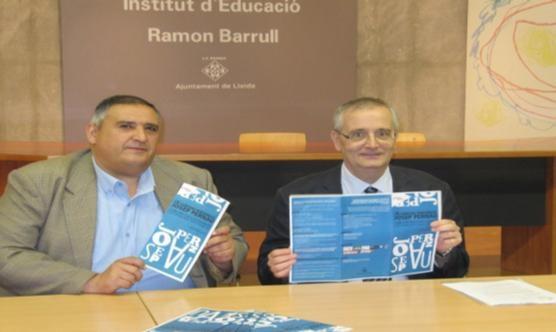 A l'esquerra, Rafa Gimena i al seu costat, Jesús Castillo. Foto: Paeria