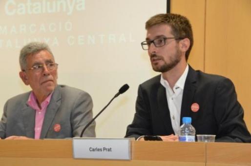 El periodista Carles Prats i el president de la Demarcació, Gonzal Mazcuñán