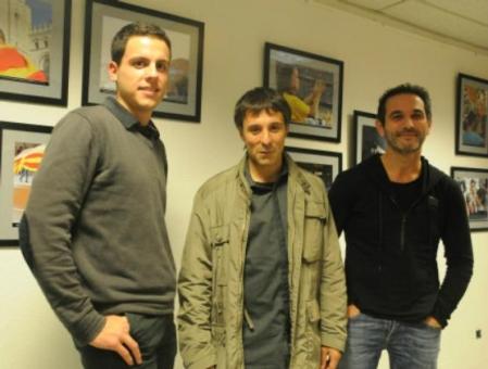 Sergi Reboredo, al centre de la foto, amb Sergi Ferrés (esquerra) i Nofre Pasqual