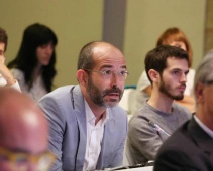 El periodista a la sala de premsa del govern català