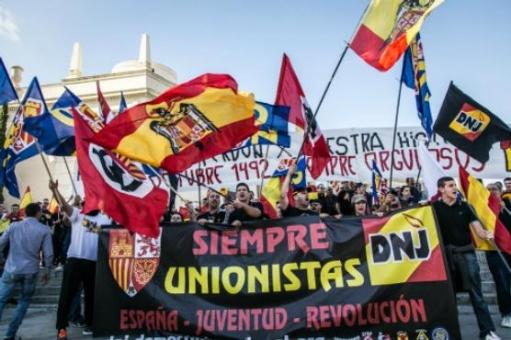 Una concentració feixista (foto: Jordi Borràs)