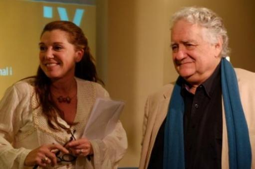 La periodista Rosa Maria Cornet i Jorge Wagensberg (Foto: Xavier Serrano)