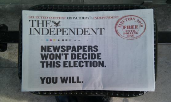 Edició especial del Independent el maig de 2010.   Foto: Clive Darra (Flickr amb llicència CC)