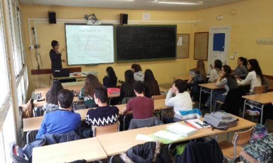 La xerrada a l'institut Ribera del Sió d'Agramunt.