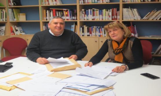 Rafa Gimena i Sara Mestres durant l'obertura dels 25 treballs. Foto: Paeria