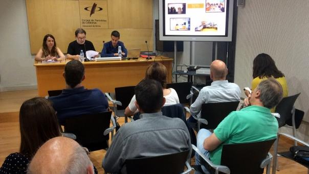 Un moment de l'assemblea informativa de Girona.