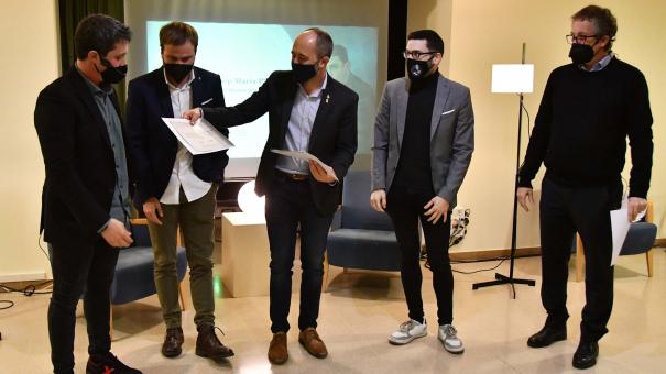 Acte de lliurament del VIII Premi Josep Maria Planes.