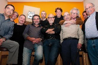 Els dibuixants que van participar a la trobada. Foto: Dani Codina