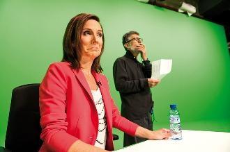 Mireia Portas fent de Raquel Sans a 'Polònia'. Foto: Sergio Ruiz