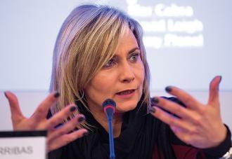 Mònica Terribas durant el debat. Foto: Jordi Salinas