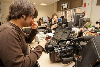 La redacció de l'ACN. Foto: Arxiu