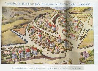 Mapa amb la situació de les cases barates de La Salut.