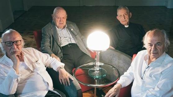 Quatre fundadors del GDP. D'esquerra a dreta: Joan Anton Benach, Josep Maria Cadena, Pere Pascual Piqué i Pere Oriol Costa. Foto: Vicente Pruna