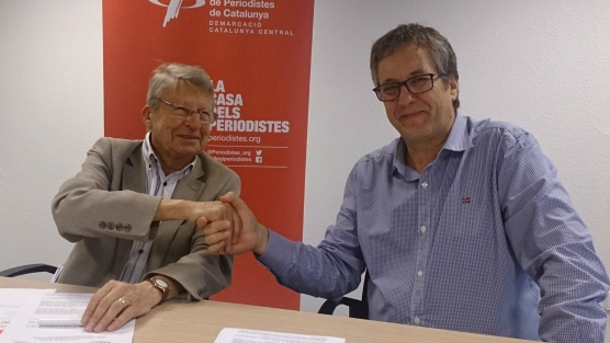 Josep Sinca (esquerra) i Enric Badia.