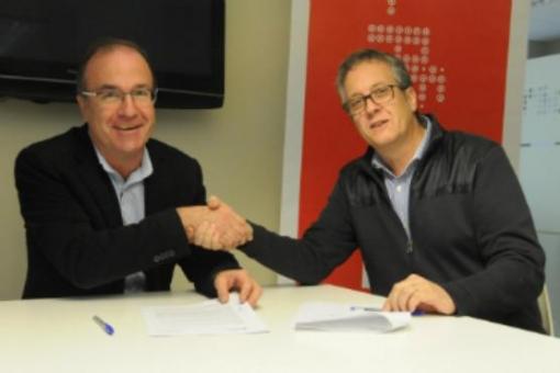 Josep Fígols (esquerra) i Enric Badia.