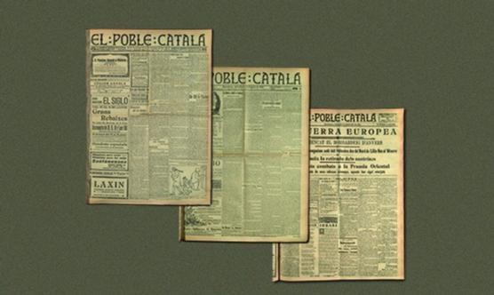Tres números de la publicació El Poble Català.
