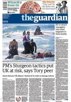Una de les portades que The Guardian va dedicar al tema dels refugiats.