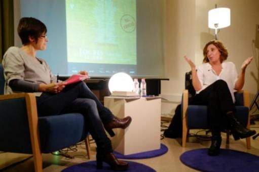 Sílvia Soler va conversar amb Anna Vilajosana (Fotos: Xavier Serrano)