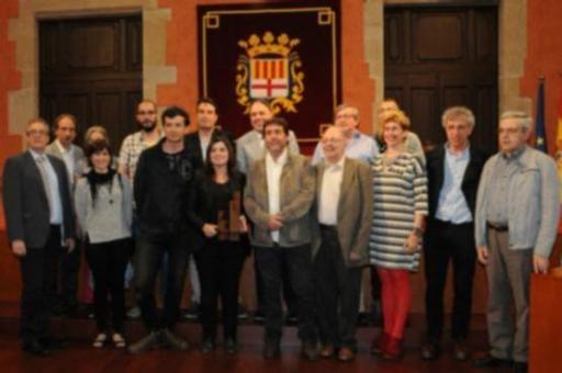 Els guanyadors de l'anterior edició amb representants de la Comissió Any Planes