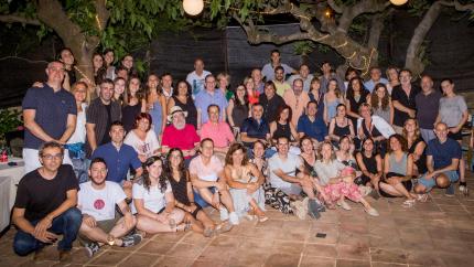 Els assistents al sopar de l'estiu passat.
