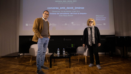 David Jiménez i Neus Bonet, just abans de començar la conversa