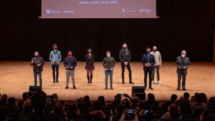 Els guanyadors dels XII Premis Carles Rahola de Comunicació Local.