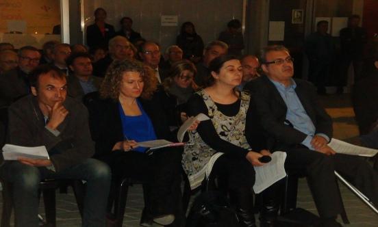 Els quatre col·legiats que van intervenir a la ronda de preguntes Foto: CPC Lleida