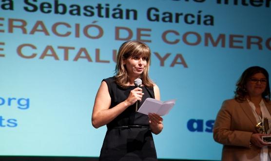 Laura Sebastián durant el seu agraïment.