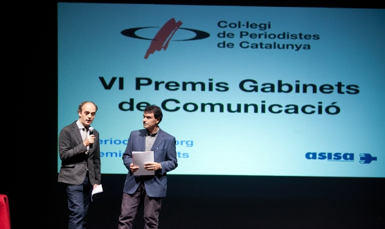 Marc Vidal i Jordi Navarro en el moment de la benvinguda.