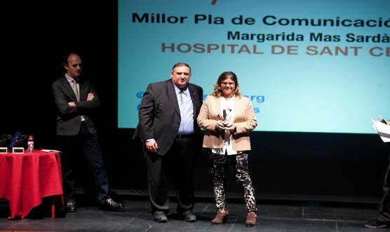 Margarida Mas va agrair el premi a tot el seu equip.