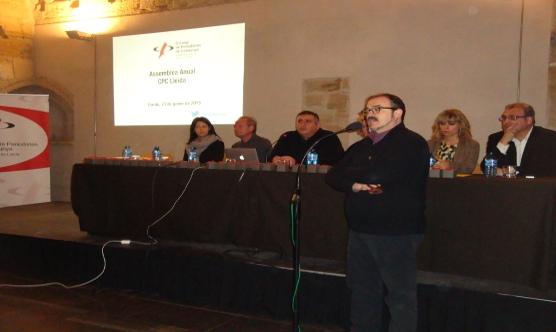 Pep Tort explicant el conveni entre el Consorci de la Seu Vella i el CPCLleida