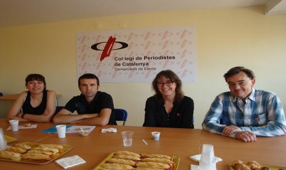 Esmorzar-Tertúlia amb Crida per Lleida (candidats esquerra) i Comú de Lleida (candidats dreta).