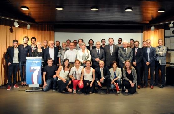 Foto de grup de tots els premiats (Fotos: Salvador Redó)