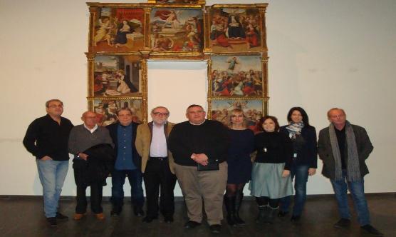 La junta del CPCLleida amb els col·legiats jubilats que van assistir a l'Assemblea.