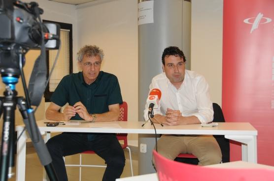 Joan Badia (dreta) i Enric Badia.