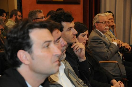 El president de la Demarcació Catalunya Central (esquerra) i l'alcalde de Manresa