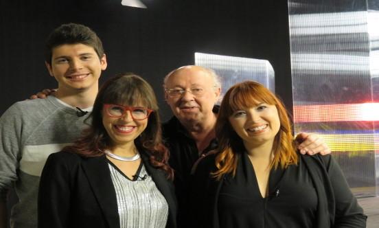 Els presentadors del programa amb Pep Oriol.