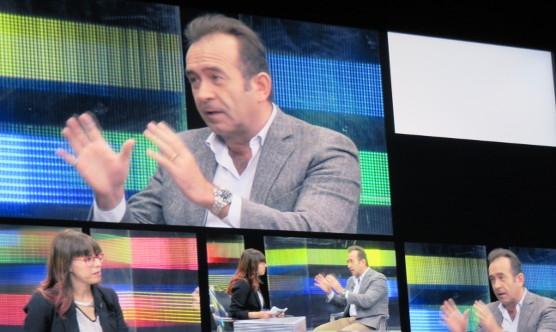Miquel Calçada durant l'entrevista