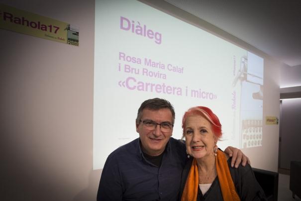 Bru Rovira i Rosa M. Calaf, abans del seu diàleg