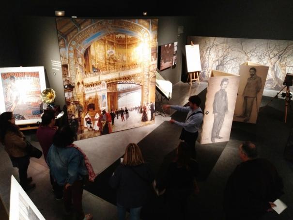 Vista de l'interior de l'exposició al Museu de Lleida