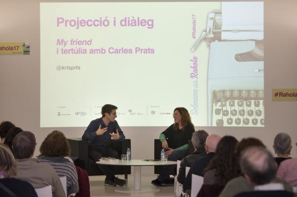 """Carles Prats va conversar amb Sònia Cervià després de la projecció de """"My friend"""""""