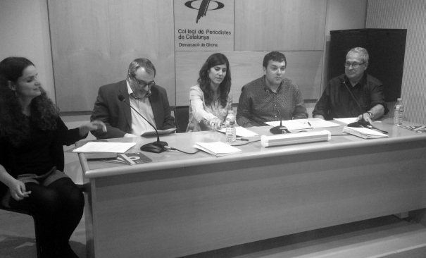 Laura Fanals, Andreu Mas, Tania Tapia, Oriol Puig i Salvador Alsius.