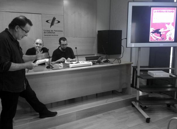 El president de la demarcació de Girona, Joan Ventura, va presentar aquest acte.